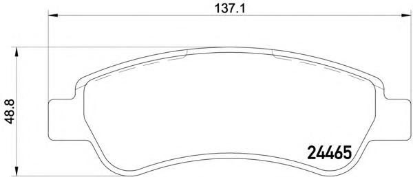 8DB355012911 Колодки тормозные CITROEN JUMPER/FIAT DUCATO/PEUGEOT BOXER (250) 06- задние