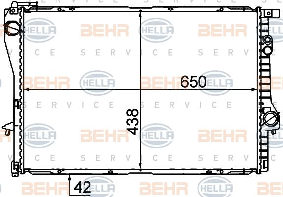 8MK376712231 Радиатор BMW E38/E39 2.0-5.0 94-05