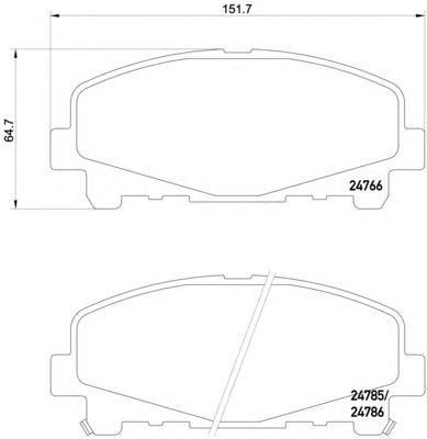 8DB355013881 Колодки тормозные HONDA ACCORD 2.0/2.4 АКПП 08- передние