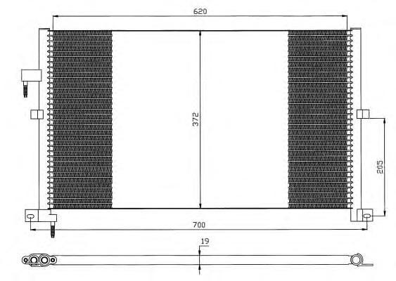35525 Конденсер FO Mondeo III 01-