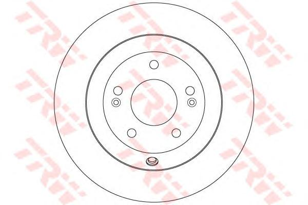 DF7996 Диск тормозной задн HYUNDAI: SANTA FE II 2.4/2.4 4x4/3.3 06-, SANTA FE III 3.0 GDi/3.0 GDi 4WD 12-  KIA: SORENTO II 2.4 G