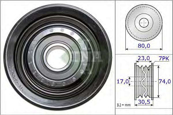 532058010 Ролик ремня приводного HONDA ACCORD/CIVIC/CR-V 1.8/2.0 01-