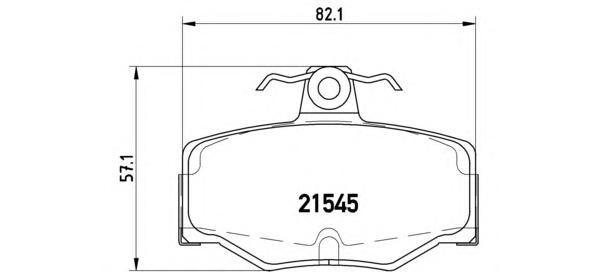 P56024 Колодки тормозные NISSAN ALMERA 00/PRIMERA 9002 задние