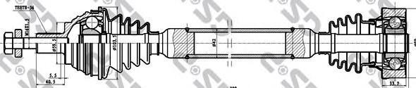 261096 Привод в сборе AUDI A3 II/SKODA/GOLF V-VI 1.6 03- прав.