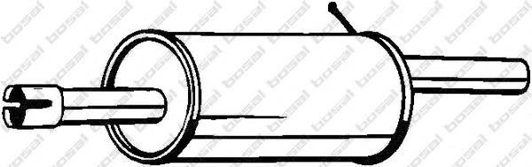 200555 Глушитель RENAULT LOGAN 1.4/1.6
