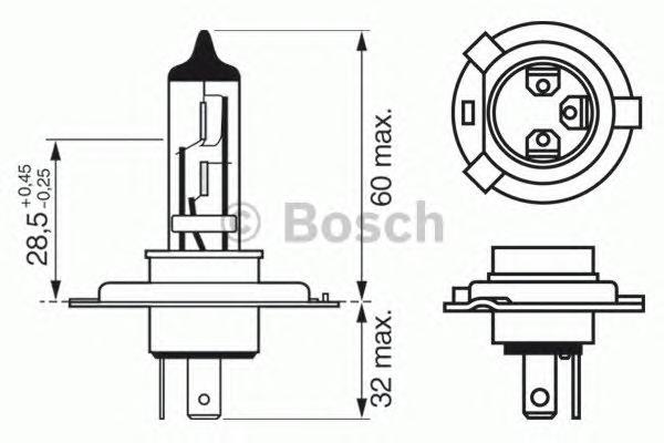 1987302048 Лампа H4 60/55W P43t Longlife Daytime