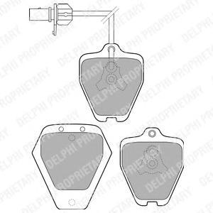 LP1760 Колодки тормозные AUDI A6 quattro 97-05 передние