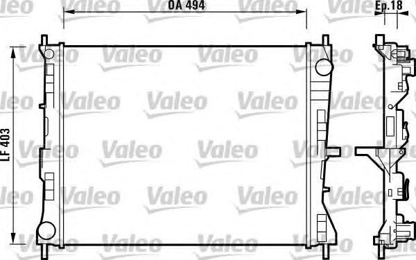 732903 Радиатор системы охлаждения NISSAN: MICRA (K12) 1.5 dCi 03-RENAULT: CLIO Grandtour (KR0/1_) 1.2 16V/1.2 16V (KR0P)/1.5 dC