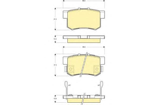 6132699 Колодки тормозные HONDA ACCORD 90-/CIVIC 97-/CR-V II/FR-V/PRELUDE 92-00 задние