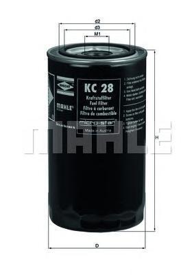 KC28 Фильтр топливный MERCEDES дв.CUMMINS N14,International,Termoking MAHLE