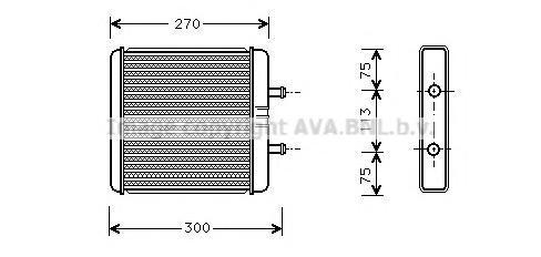 iv6048 Теплообменник, отопление салона