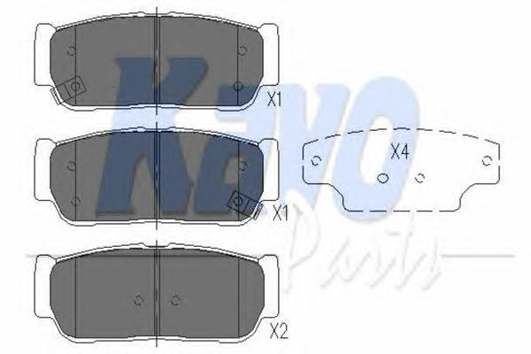 KBP4017 Колодки тормозные SSANGYONG REXTON 08-/KYRON 05- задние
