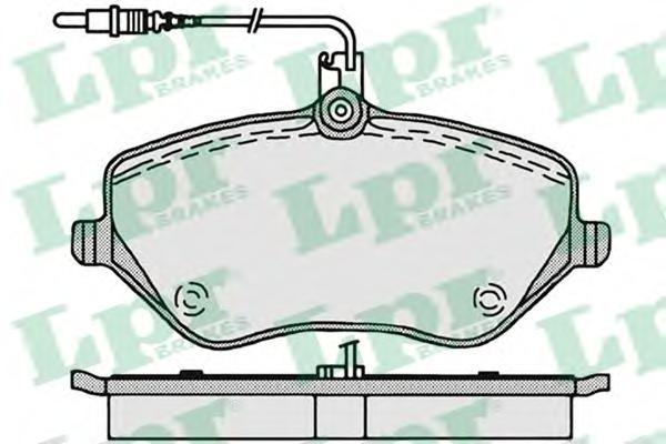 05P1202 Колодки тормозные CITROEN C5/C6/PEUGEOT 407/607 2.0-3.0 00- передние