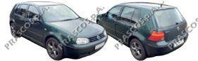 VW0347402 Кожух зеркала левый, черный / Seat, VW Golf IV, Bora, Passat, Polo, Skoda Superb 97~