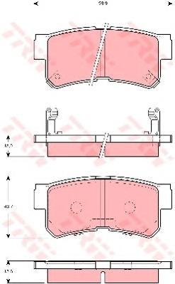 GDB3258 Колодки тормозные HYUNDAI TRAJET 2.0-2.7 00- задние