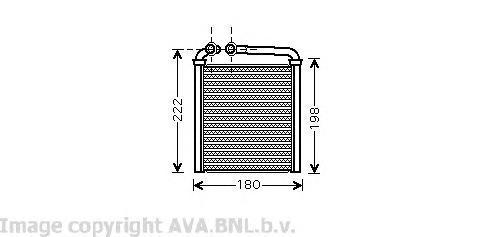 VW6256 Радиатор отопителя VW PASSAT 1.4-3.6 05-