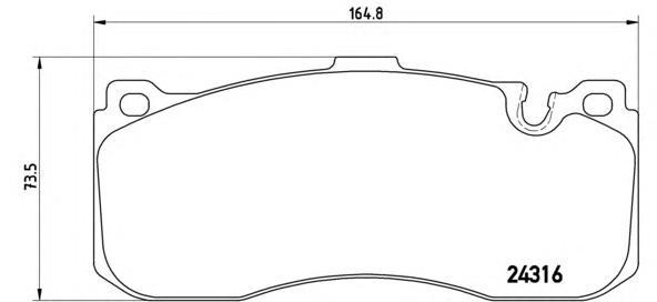 P06041 Колодки тормозные BMW 1 E81/87/3 E90/91 передние