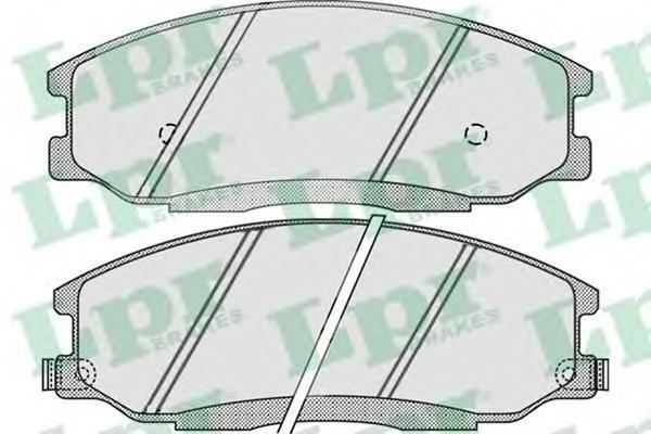 05P860 Колодки тормозные HYUNDAI H-1/SANTA FE/TRAJET/SSANGYONG REXTON 01- передние