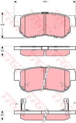 GDB3298 Колодки тормозные HYUNDAI GETZ/MATRIX/SANTA FE/SONATA/TUCSON/KIA SPORTAGE задние