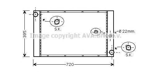 BW2277 Радиатор системы охлаждения BMW: 5 (E60) 535d 03 - , 7 (E65, E66) 730 d/740 d 01 -