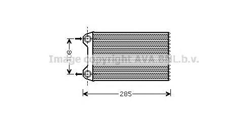AIA6223 Радиатор отопителя AUDI A4 1.8/2.0 04-