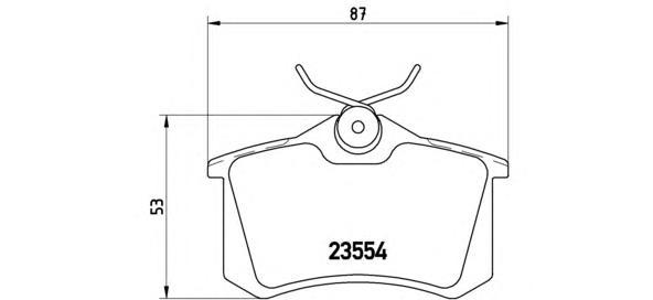 P85017 Колодки тормозные AUDI A4/A6/RENAULT SCENIC/VW GOLF 2/3/PASSAT задние