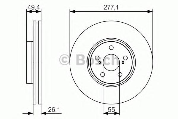 0986479S09 Диск тормозной TOYOTA AVENSIS 1.6-2.4 03- передний вент.