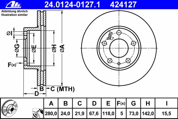 24012401271 Диск тормозной передн, CITROEN: JUMPER c бортовой платформой 2.2 HDi 100/2.2 HDi 110/2.2 HDi 120/2.2 HDi 130/2.2 HDi