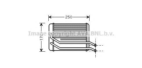 HY6118 Радиатор отопителя HYUNDAI SANTA FE 2.0-2.7/2.0D 01-