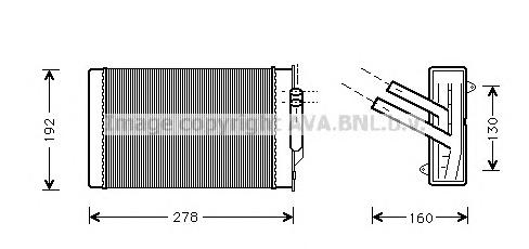 CR6004 Радиатор отопителя CHRYSLER 300M 2.7/3.5 98-04