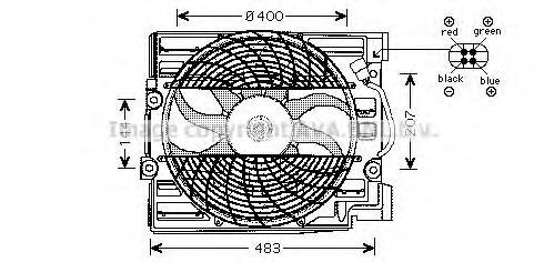 bw7509 Вентилятор, охлаждение двигателя
