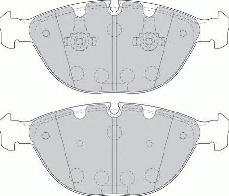FDB1618 Колодки тормозные BMW X5 E53 4.4-4.8 02- передние