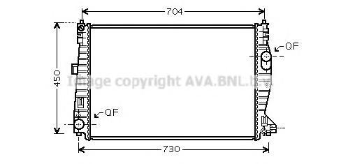 ALA2101 Радиатор ALFA ROMEO 159 1.8-3.2/1.9D-2.4TD 05-11
