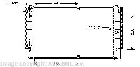 VWA2149 Радиатор VW T4 1.8-2.8/1.9D/2.4D 90-04