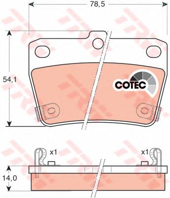 GDB3279 Колодки тормозные TOYOTA RAV 4 II 1.8-2.0 00-05 задние