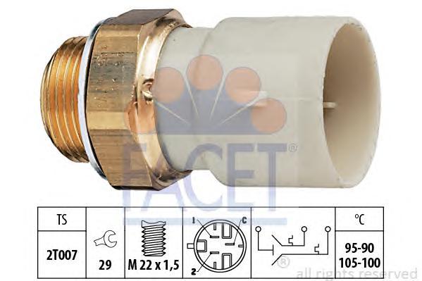 75688 Датчик включения вентилятора OPEL: ASTRA F (56_, 57_) 1.7 D/1.7 TD/1.7 TDS/1.8 i 16V/2.0 i 16V 91-98, ASTRA F Van (55_) 1.