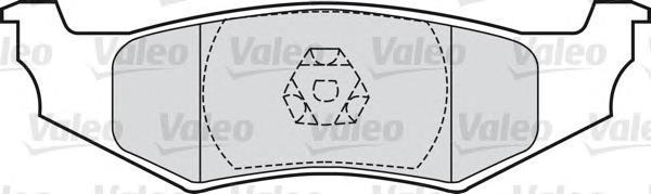 598544 Колодки тормозные CHRYSLER 300M 98-04/PT CRUISER 01-/SEBRING 01-задние