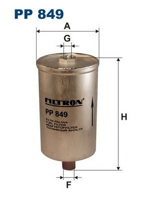 PP849 Фильтр топливный AUDI 100/A6 82-97