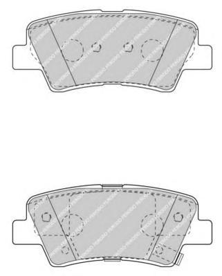 FDB4387 Колодки тормозные HYUNDAI SOLARIS 10-/SONATA V (NF) 05-/KIA SOUL 09- задние
