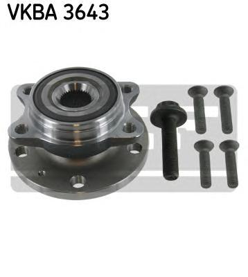VKBA3643 Ступица с подшипником AUDI A3/GOLF V/CADDY/PASSAT B6/TIGUAN/OCTAVIA 03- пер.