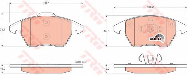 GDB1605 Колодки тормозные CITROEN C4/PEUGEOT 207/307/308 1.6-2.0 передние