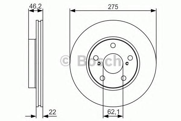 0986479R97 Диск тормозной TOYOTA AURIS (Японская сборка) 1.4/1.6 07- передний вент.