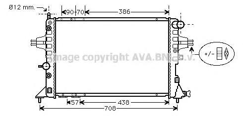 OLA2329 Радиатор OPEL ASTRA 2.0 / 2.2 TD A/T 00-
