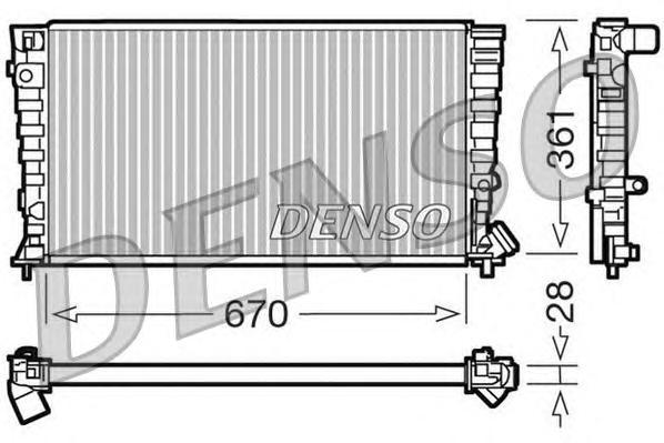 DRM07030 Радиатор системы охлаждения CITROEN: BERLINGO (MF) 1.8 D/1.8 D (MFA9A)/1.9 D/1.9 D (MFDJY) 96 - , BERLINGO фургон (M) 1