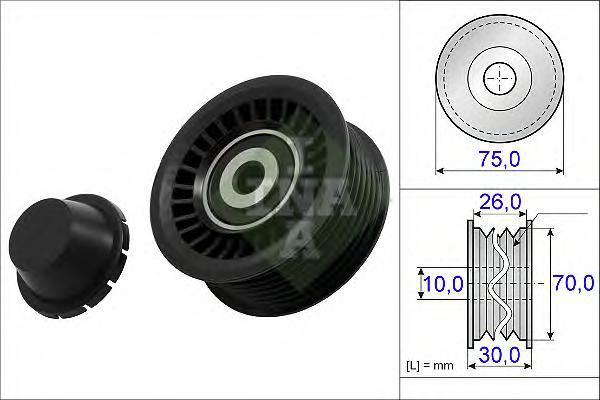 532072310 Ролик ремня приводного RENAULT MEGANE/SCENIC 1.4 09-