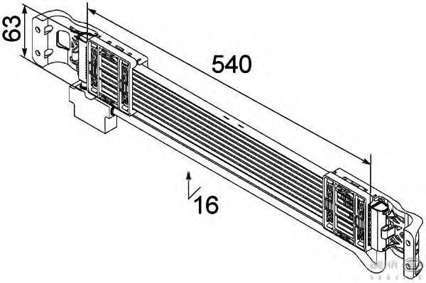 8MO376747131 Радиатор масляный АКПП VW PASSAT -10