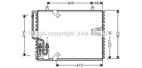 BW5183 Радиатор кондиционера BMW: 5 (E34) 518 i/520 i/520 i 24V/524 td/525 i/525 i 24V/525 td/530 i/530 i V8/535 i/540 i V8 87 -