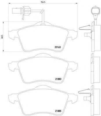 """8DB355008931 Колодки тормозные VOLKSWAGEN T4 99 (R15"""")с датчиком передние"""