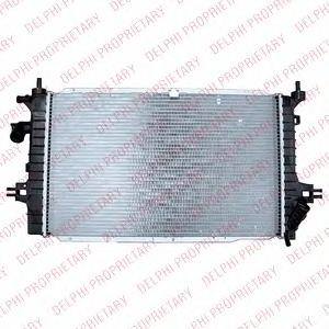 TSP0524021 Радиатор OPEL ASTRA/ZAFIRA 1.7D/1.9D 04-