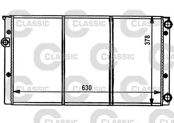 231032 Радиатор VAG G3 1.6-2.0/1.9TD 91-98